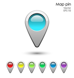 Glossy map pointer set vector image