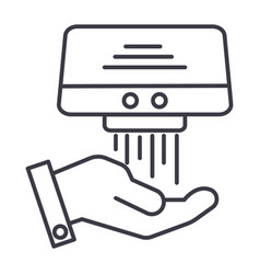 hand dryer line icon sign on vector image vector image