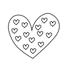 heart love romance passion decoration element vector image