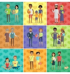 People of world concept in flat design vector image vector image