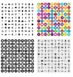 100 smart house icons set variant vector
