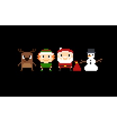 171016 1703 pixel christmas vector image