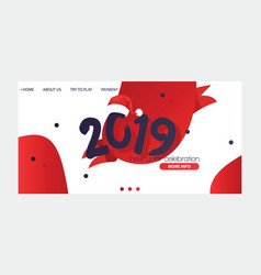 2019 happy new year text christmass for happy vector image