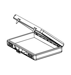 3d model suitcase on a white vector image