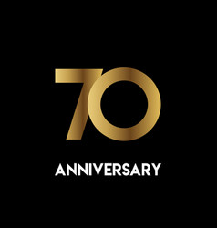 70 year anniversary simple template design vector