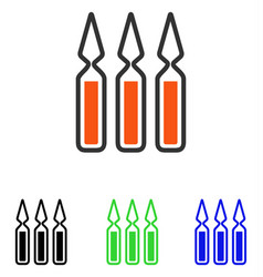 Ampoules flat icon vector