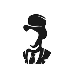 Aristocrat in a hat logo vector image