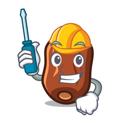 Automotive dates fruit mascot cartoon vector