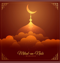 Beautiful eid milad un nabi barawafat festival vector