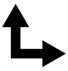 Bifurcation Arrow Right Up Flat Icon vector