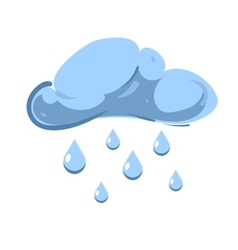 Blue cloud with falling rain isolated over vector image vector image