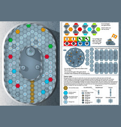 Board game - race of armored machines vector