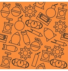 Bomb icons pattern vector