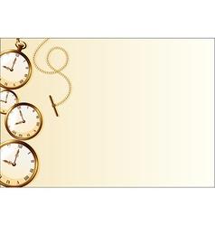Brown wallpaper with retro watch design vector