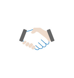 business handshake solid icon deal agreement vector image