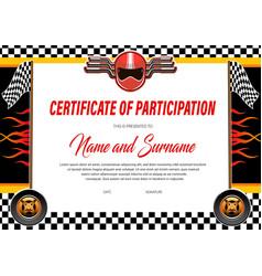 Car racing certificate diploma template rally vector