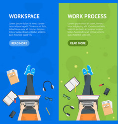 cartoon working at the park card poster banner vector image