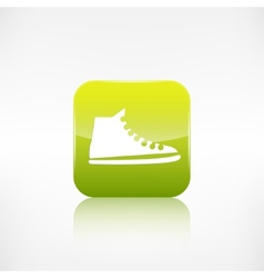 Casual keds gym shoes iconApplication button vector