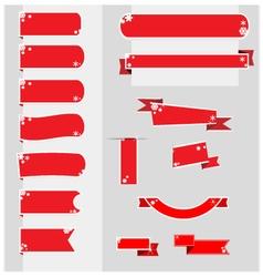 Christmas ribbons banner vector image