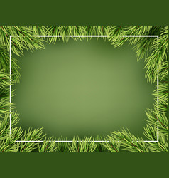 Christmas tree branches frame template eps 10 vector