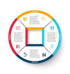 circle infographic with 4 options vector image