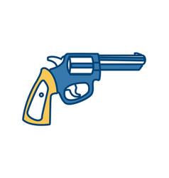 classic handgun weapon vector image