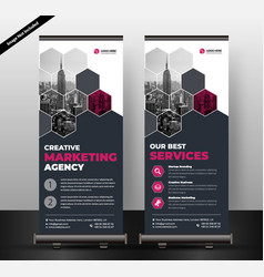 corporate roll up banner template vector image