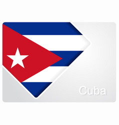 Cuban flag design background vector