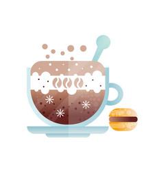 cup of fresh americano mug of cold coffee drink vector image