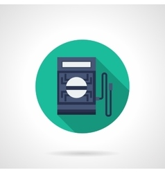 Digital tester flat round icon vector