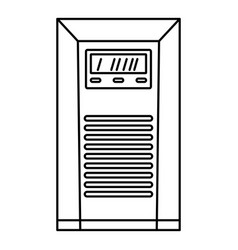 Electrical tool box icon outline style vector
