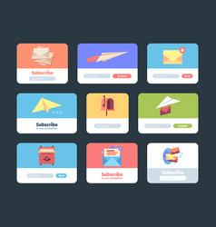 email subscription forms web ui templates for vector image