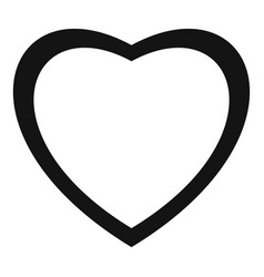 Fearless heart icon simple style vector