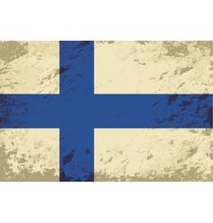 Finnish flag Grunge background vector image