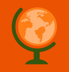 flat icon of globe vector image