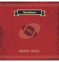 football retro page vector image