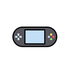 game console flat icon sign symbol vector image