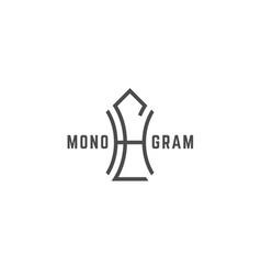 geometric monogram hl vector image