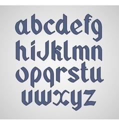 Gothic handwritten font Vintage vector