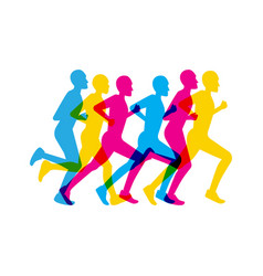 group men running vector image