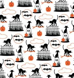 halloween pattern on white vector image