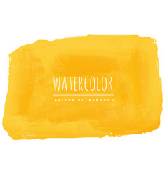 Hand painted yellow watercolor texture background vector