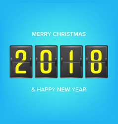 happy new year 2018 merry christmas vector image