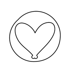 Heart love emblem icon vector