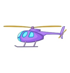 Helicopter icon cartoon style vector
