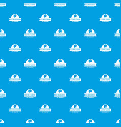 Helmet gyro scooter pattern seamless blue vector