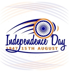 India Independence Day 15th vector image