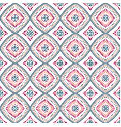 Intricate mandala pattern blue background vector