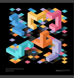 Isometric abstract background with geometric vector