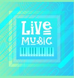 Live music concert poster festival banner vector